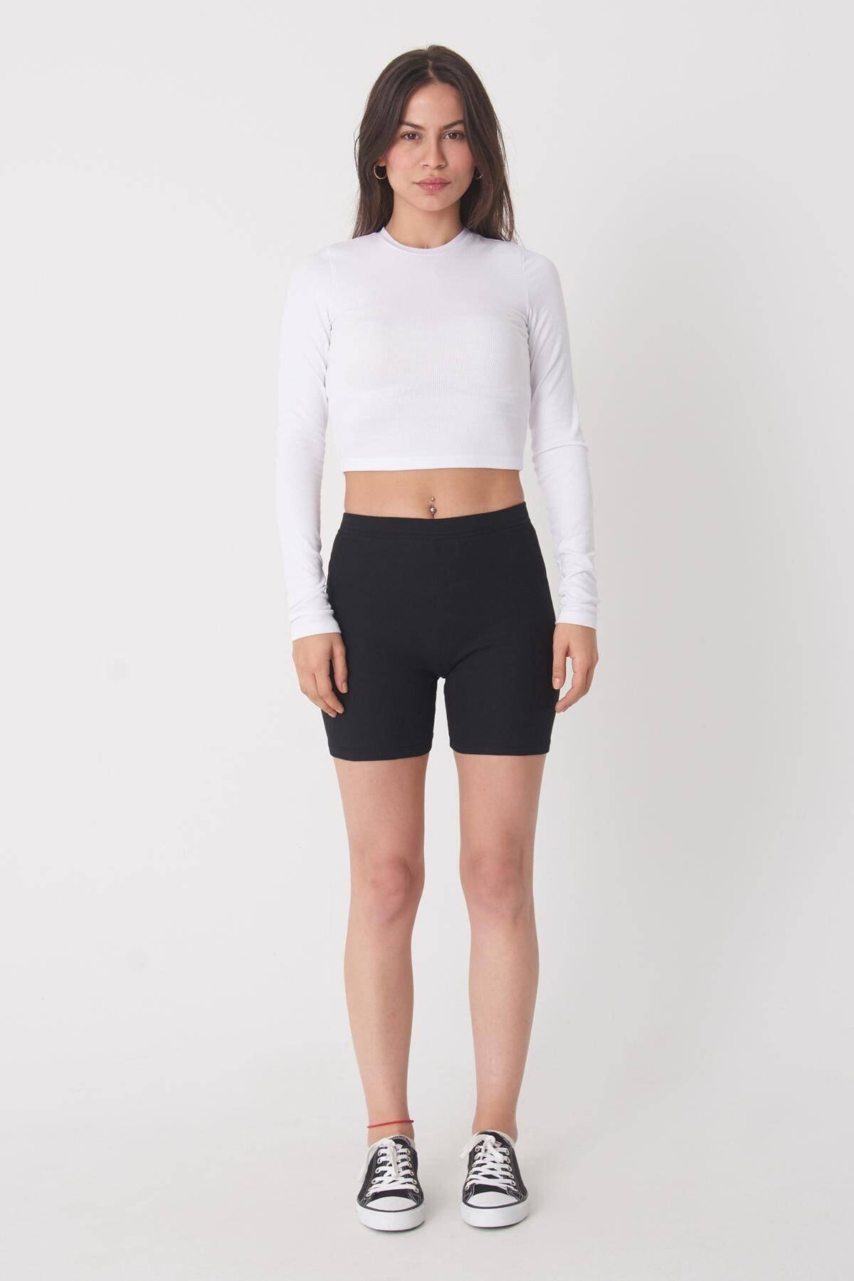 Addax Kadın Beyaz Uzun Kollu Bluz P1017 - K12 ADX-0000022662 2