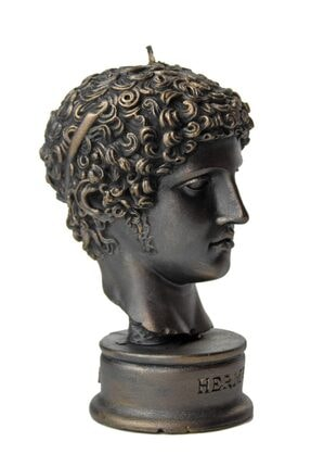 vawa Siyah Hermes Dekoratif Büst Mum 1