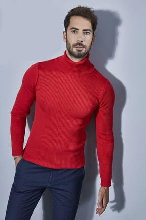 Sateen Men Erkek Kırmızı Tam Balıkçı Triko 20KTR335E100 0