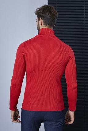 Sateen Men Erkek Kırmızı Tam Balıkçı Triko 20KTR335E100 2