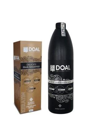 DOAL Delicate Keratin Şampuanı 200 ml ve  Keratin Bakım Sütü 1000 ml 0