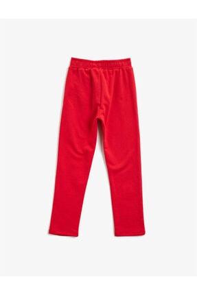Koton Kız Çocuk Kırmızı Pamuklu Baskili Normal Bel Esofman Alti 1