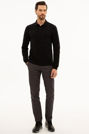 Pierre Cardin Erkek Siyah Slim Fit Polo Yaka Sweatshirt G021GL082.000.1208969 4