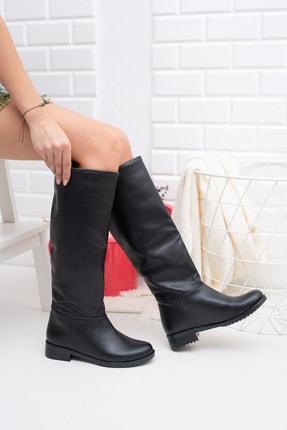 Moda Değirmeni Siyah Cilt Kadın Çizme Md1010-117-0002 2