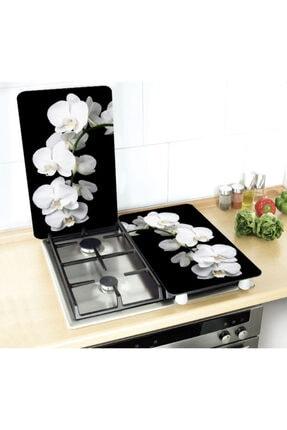 GBMOTION Beyaz Orkide 2'li Ocak Koruyucu 30x52 0