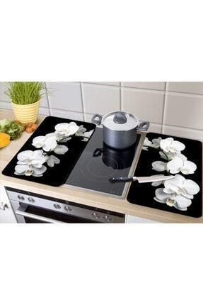 GBMOTION Beyaz Orkide 2'li Ocak Koruyucu 30x52 1