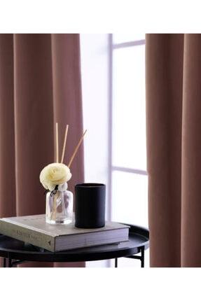 Evdepo Home Karartma Blackout Pilesiz Fon Perde-gül-kurusu 1