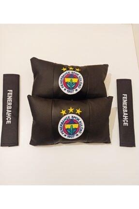 Türkiye Fenerbahçe Taraftar Seyahat Boyun Yastığı Ve Kemer Pedi Takımı Nakışlı 0