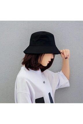 Belifanti Collection Düz Siyah Kova Şapka Balıkçı Şapka Bucket Hat 3