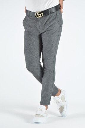 Terapi Men Erkek Gri Slim Fit Keten Pantolon 1