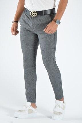 Terapi Men Erkek Gri Slim Fit Keten Pantolon 2