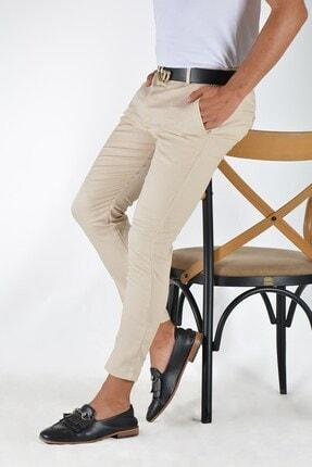 Terapi Men Erkek Krem Slim Fit Keten Pantolon 2