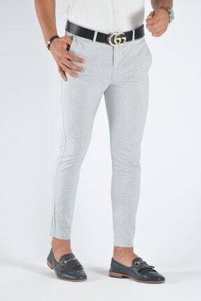 Terapi Men Erkek Gri Slim Fit Keten Pantolon 0