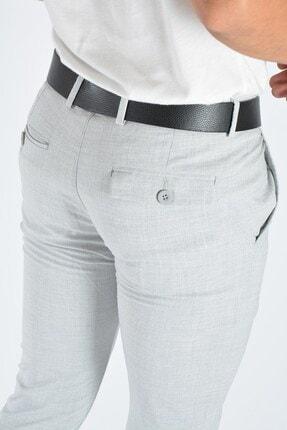 Terapi Men Erkek Gri Slim Fit Keten Pantolon 3