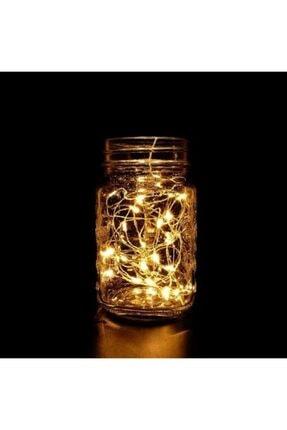 Kavanoz Kapağı Şeklinde Güneş Enerjili Peri Led Işık Zinciri kavanozkapak1