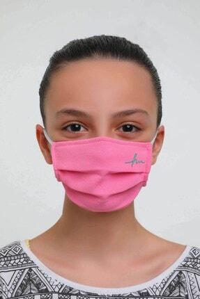 Haşema Antibakteriyel Sertifikalı Gümüş Iyonlu Yıkanabilir Maske Pembe 2