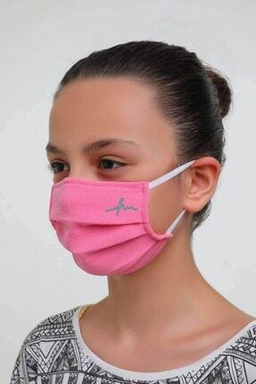 Haşema Antibakteriyel Sertifikalı Gümüş Iyonlu Yıkanabilir Maske Pembe 3