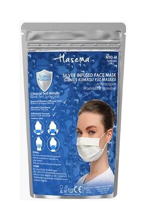 Haşema Antibakteriyel Sertifikalı Gümüş Iyonlu Yıkanabilir Maske Pembe 4