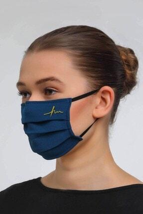 Haşema Lacivert Antimikrobiyal Sertifikalı Gümüş Iyonlu Yıkanabilir Maske 2