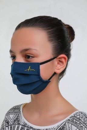 Haşema Lacivert Antimikrobiyal Sertifikalı Gümüş Iyonlu Yıkanabilir Maske 4