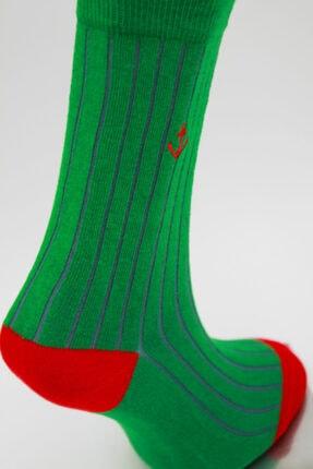 Özkay Socks Unısex Nakışlı Çok Renkli Soket Çorap 2