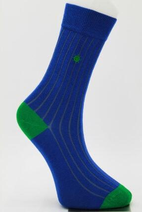 Özkay Socks Unısex Nakışlı Çok Renkli Soket Çorap 4
