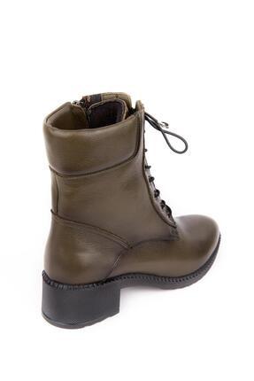 Bellacomfort Shoes Kadın Haki Yeşil Bot-n1000 4