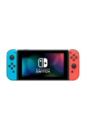 Nintendo Switch Neon Red Blue Yeni Model + HORI Compact PlayStand Mario Edition Hediye 4
