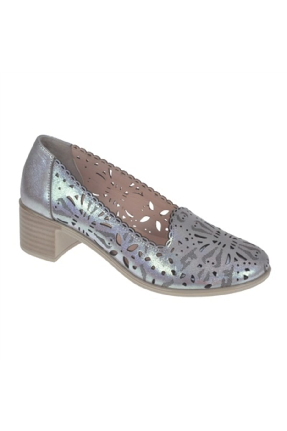 SHALİN Hakiki Deri Kadın Ayakkabı N-2110 Vizon