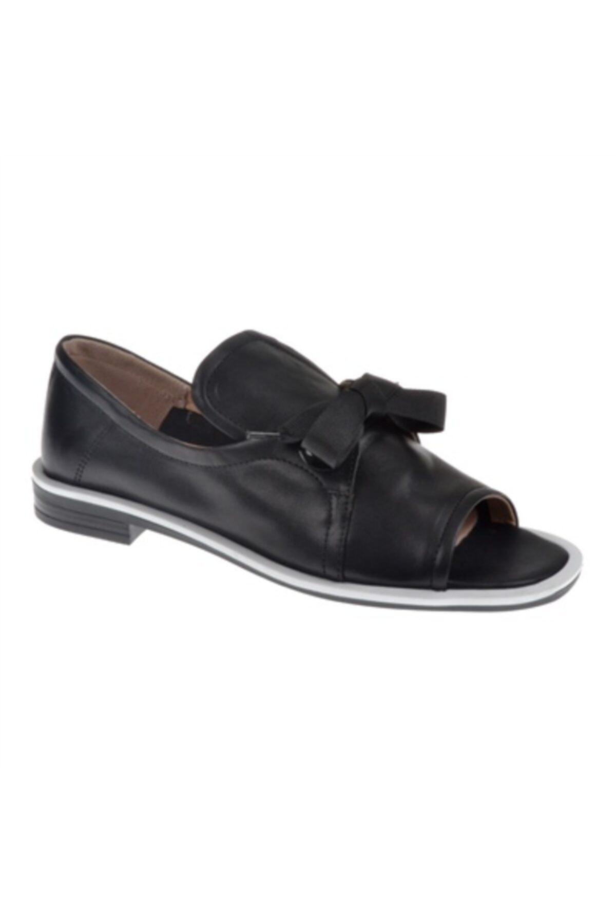 SHALİN Hakiki Deri Kadın Ayakkabı N-2024 Siyah