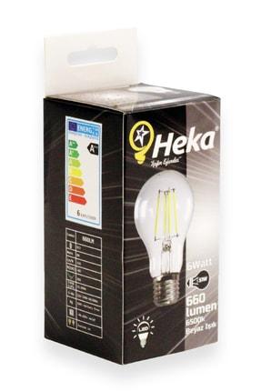 Heka Led Filament Ampul 6 W E27 Beyaz Işık 3