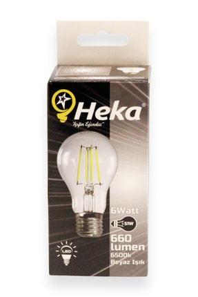 Heka Led Filament Ampul 6 W E27 Beyaz Işık 2