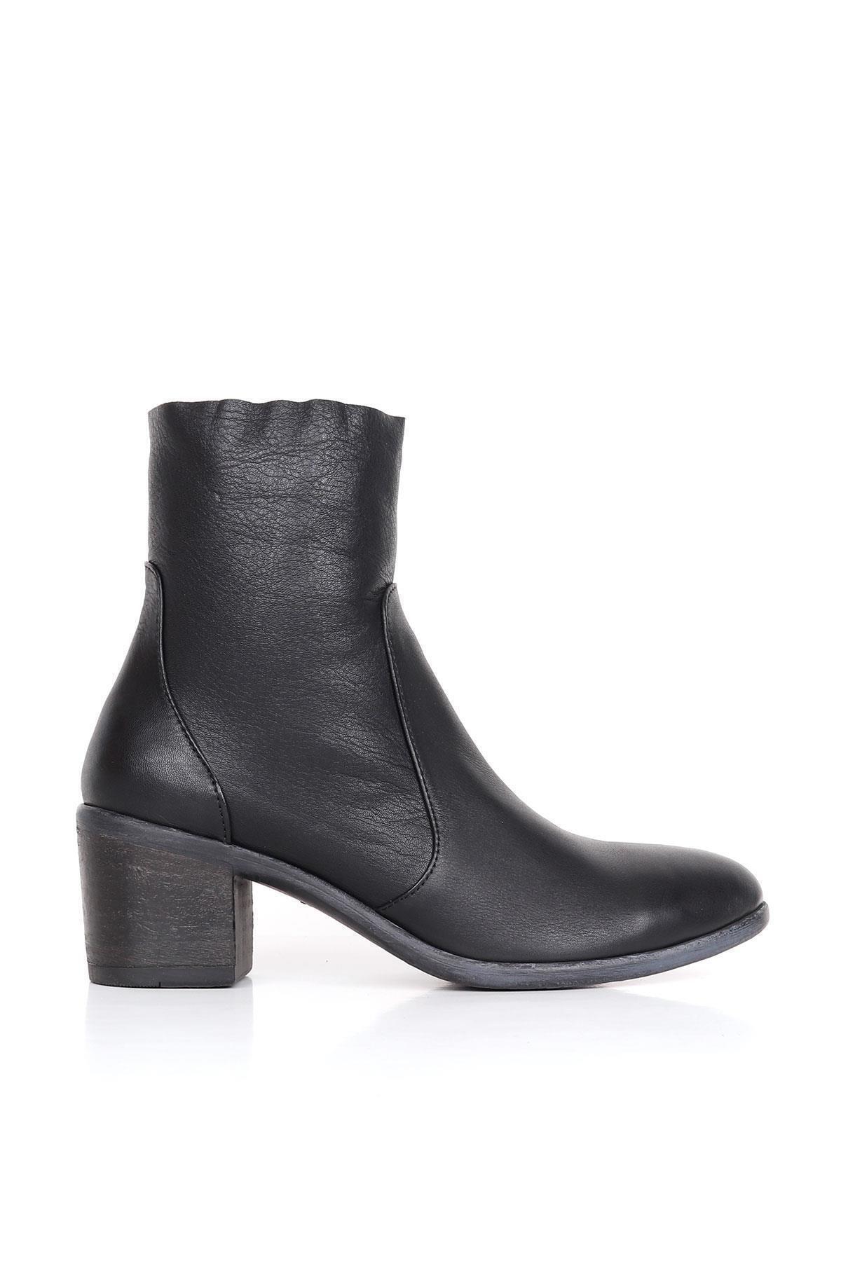 BUENO Kadın Siyah Hakiki Deri Topuklu Bot 01wr2900