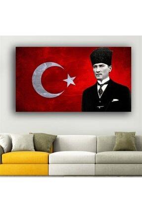 GENC DIJITAL BASKI Atatürk Ve Türk Bayrağı Kanvas Tablo 50x80 1