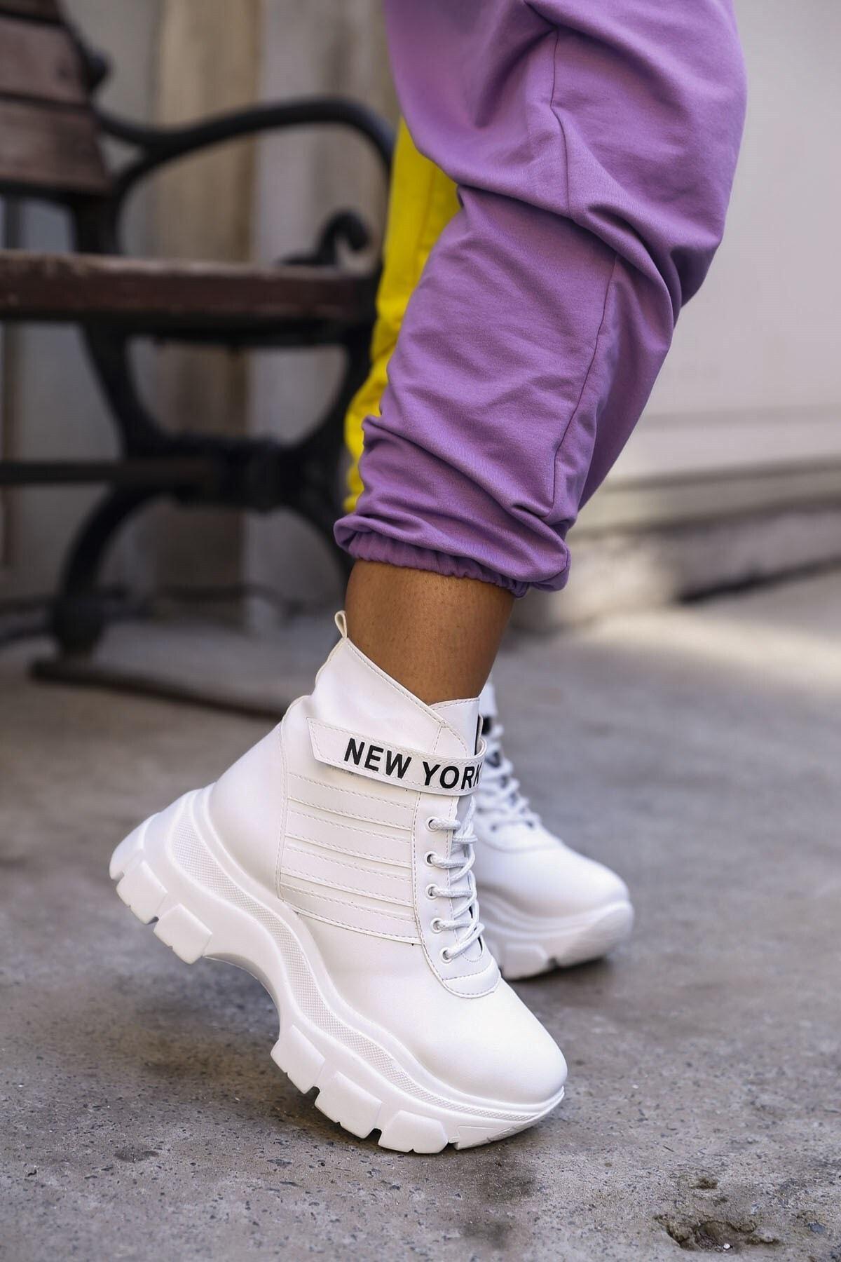 RK Format Shoes Kadın Beyaz Aster Spor Bot