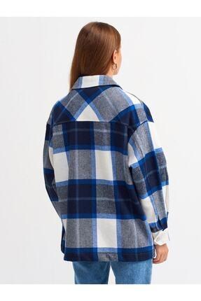 Dilvin Kadın Lacivert Oduncu Gömlek 2