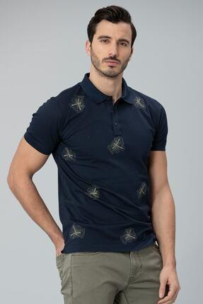 Lufian Alpaca Spor Polo T- Shirt Lacivert 3