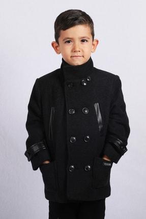Erkek Çocuk Siyah Kaşe Mont Kaban resmi