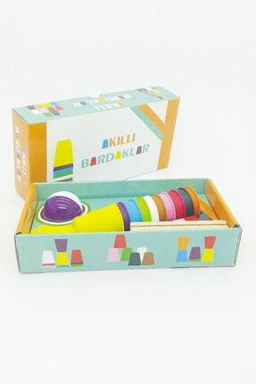 Akıllı Dükkan Akıllı Bardaklar El Becerisi Ve Zeka Gelişimine Destek Olan, Renkli Eğitici Oyuncak 3