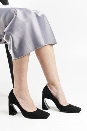 Marjin Devolze Kadın Topuklu Ayakkabısiyah Süet 3