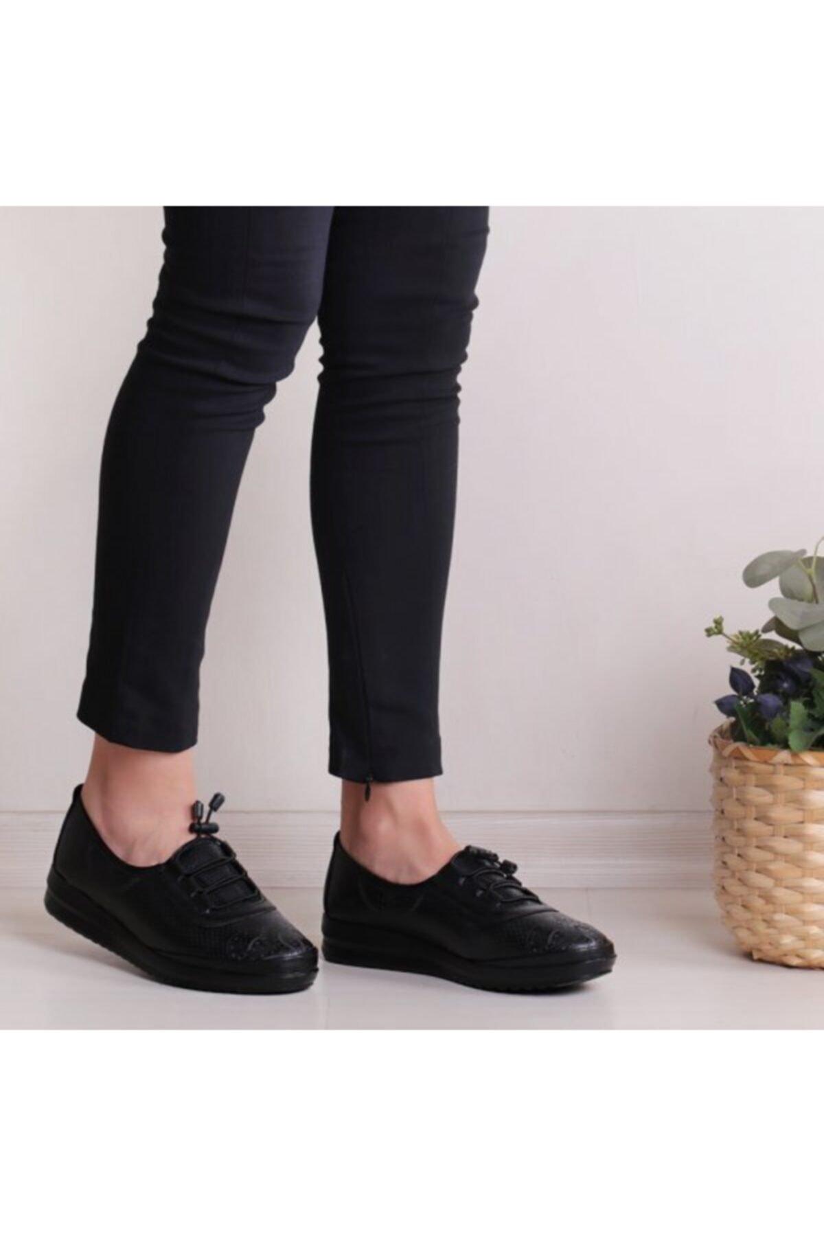 WoW Ayakkabı Kadın Siyah Babet Ayakkabı