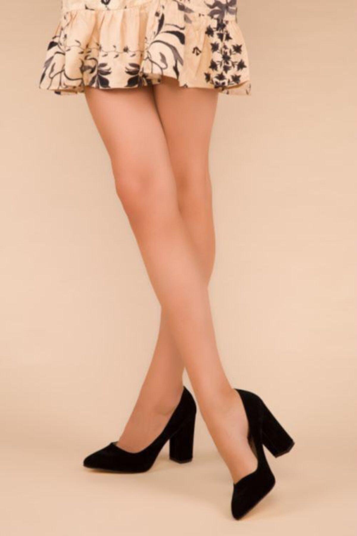 Nilay Kadın Siyah Süet Topuklu Ayakkabı