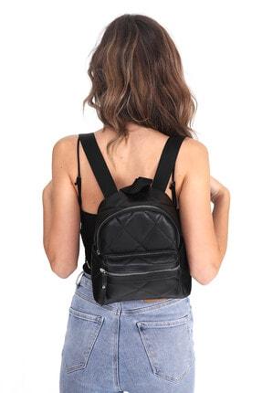 Top All BAG Kadın Siyah Kapitone Mini Sırt Çanta 3