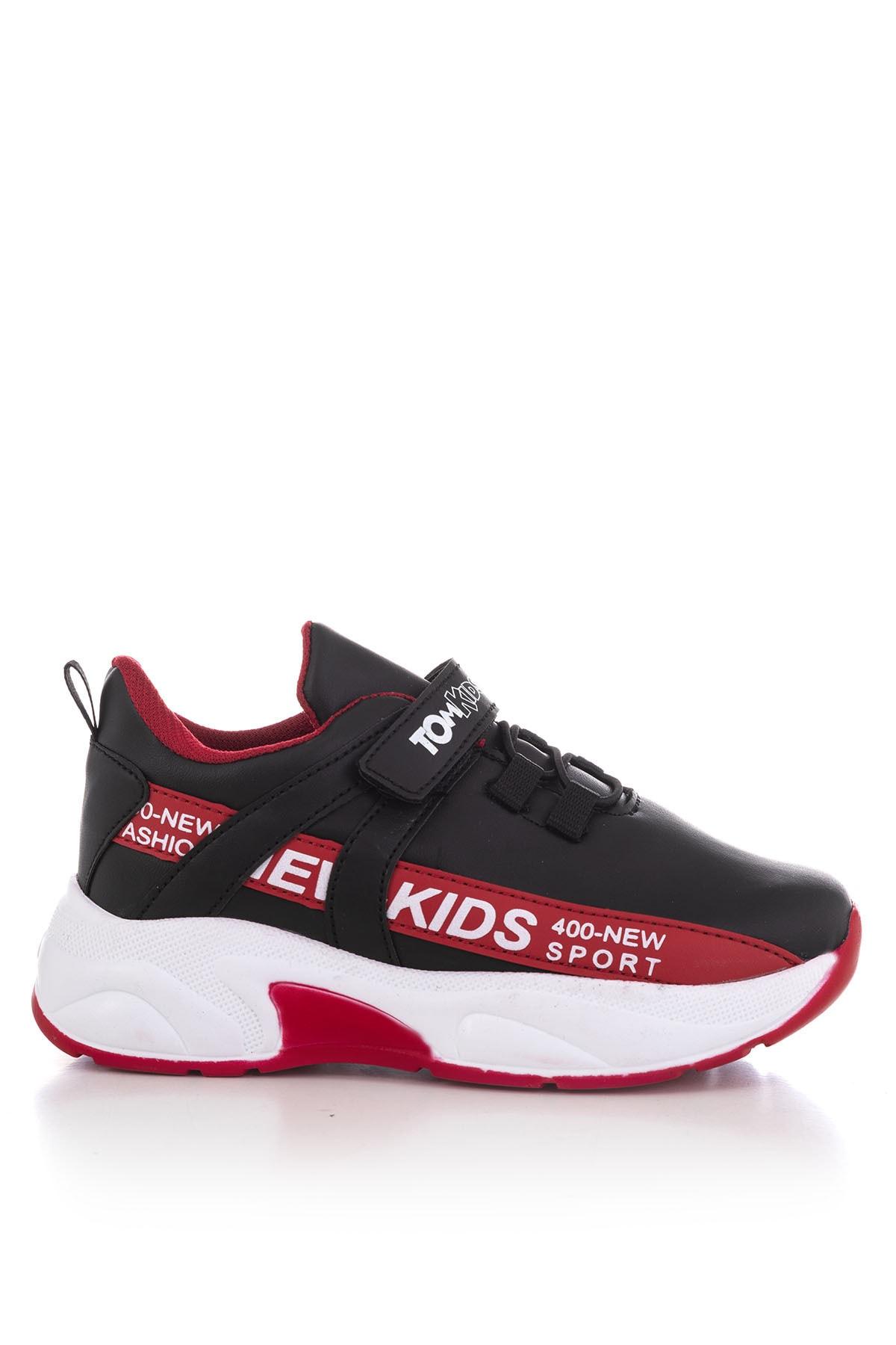Tonny Black Siyah Kırmızı Çocuk Spor Ayakkabı Dg674 2