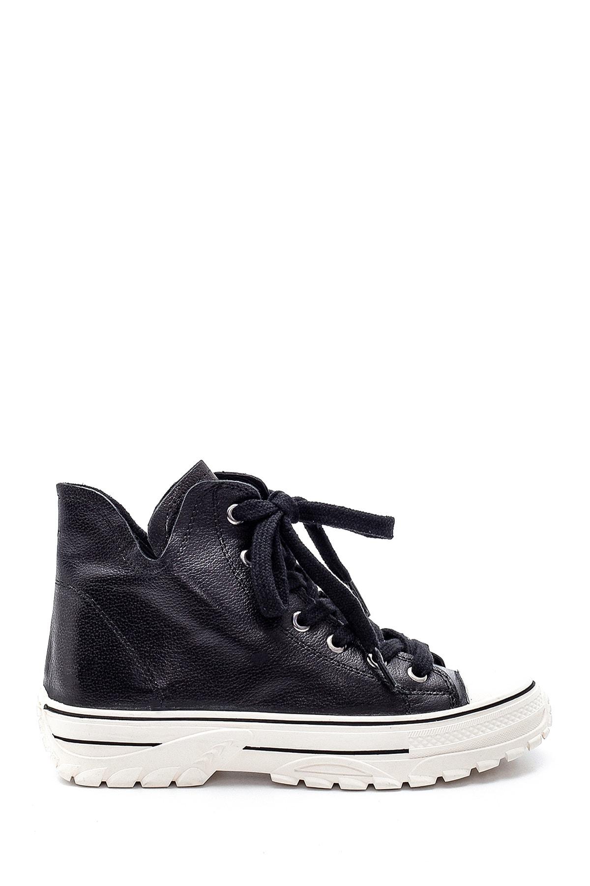 Derimod Kadın Siyah Deri Spor Ayakkabı