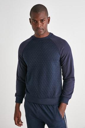 TRENDYOL MAN Lacivert Erkek Sweatshirt TMNAW21SW0911 0