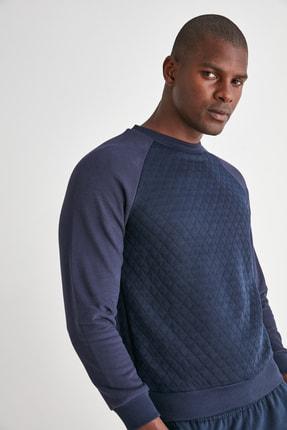 TRENDYOL MAN Lacivert Erkek Sweatshirt TMNAW21SW0911 2
