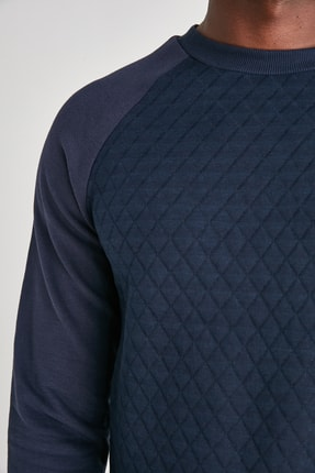TRENDYOL MAN Lacivert Erkek Sweatshirt TMNAW21SW0911 3