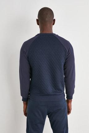 TRENDYOL MAN Lacivert Erkek Sweatshirt TMNAW21SW0911 4
