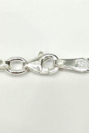 Omar Silver Unisex Figaro 3,6 Mm Gümüş Kolye Zincir Omr7641 2